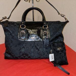 Coach Conv't Signature Carryall Handbag w/BONUS